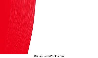 pinceau, rouges, color., peinture