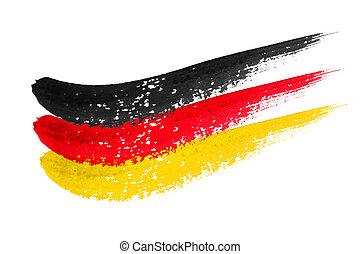 pincelada, bandera, alemania