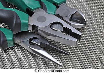 pinces, électricien, outils