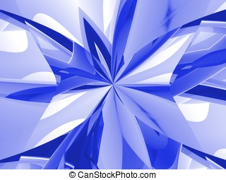 Pinched Blues - Hues of blue and white combine into a...