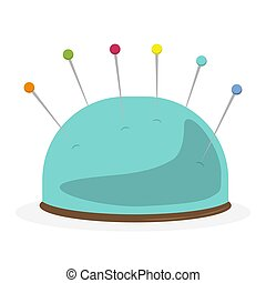 Pincushion with pins icon vector illustration design isolated