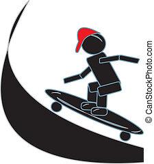 pind figur, skateboarding