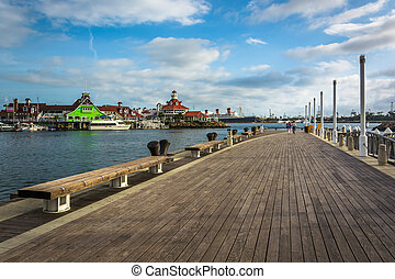 Pine Avenue Pier, in Long Beach, California.