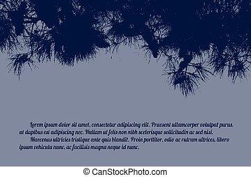 Pine branch tree