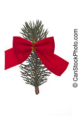 Pine Branch with a Red Bow