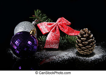 pine cone and baubles