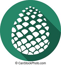 pine cone flat icon