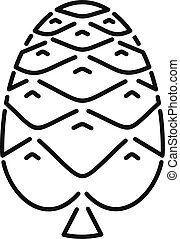 Pine cone icon, outline style
