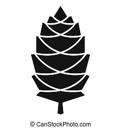 Pine cone icon, simple style