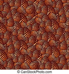 pine cones background vector illustration