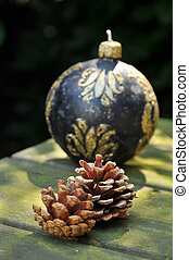 Pine cones with christmas