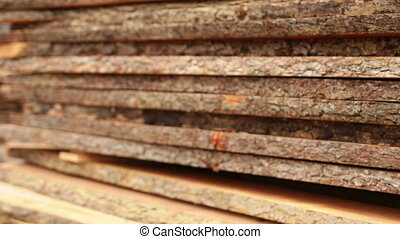 pine logs in a pile video