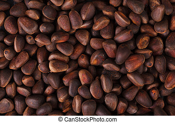 Pine nuts texture