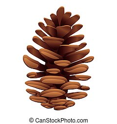 pine of brown color vector illustration design