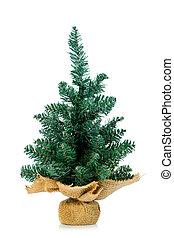 Pine on burlap stand