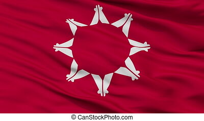 Pine Ridge Indian Flag Closeup Seamless Loop - Pine Ridge...