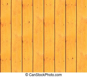 Picket fence made of pine wood as a seamless tileable texture