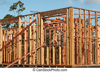 Pine Timber Wall Frames House Structure - Pine Timber Wall...
