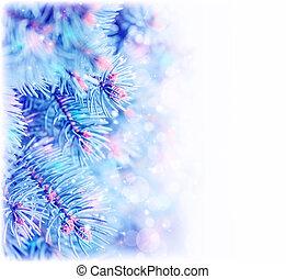 Pine tree border