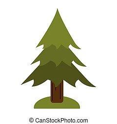 pine tree forest camping icon