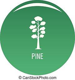 Pine tree icon vector green