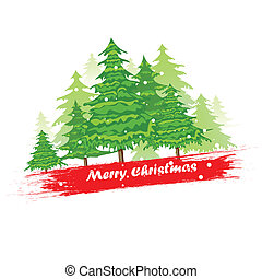 Pine Tree in Christmas Background