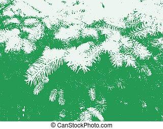 Pine Tree Needless Vector Texture Overlay