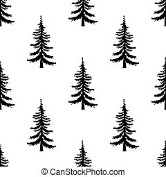 Pine tree pattern. Simple illustration of pine tree pattern for web