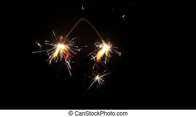 Pine tree shaped sparkler 1