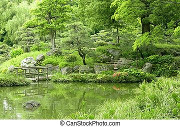 Japanese Outdoor Stone Lantern In Zen Garden Japanese Outdoor Stone