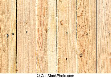 Pine wood fence