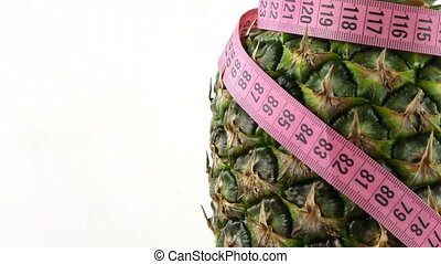 Pineapple and Measurement for Healthy Fit Body
