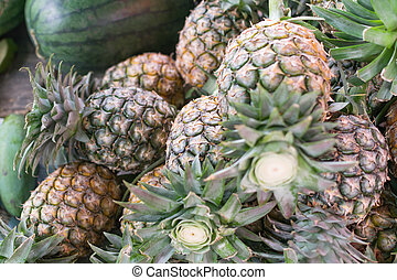 Pineapple at the market