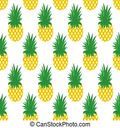 Pineapple background. Seamless pattern with pineapples. Vector illustration