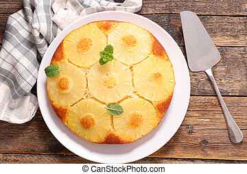 pineapple cake, top view