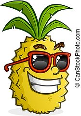 Pineapple Cartoon Character Wearing Sunglasses - A snarky...