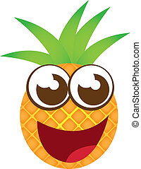 pineapple cartoon isolated over white background. vector