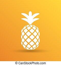 Pineapple closeup cartoon sketch hand drawn illustration