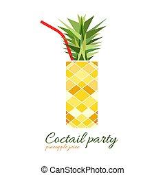 Pineapple cocktail illustration