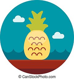 Pineapple flat icon