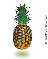 pineapple fresh fruit, isolated on white