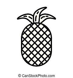 pineapple fresh fruit nature icon