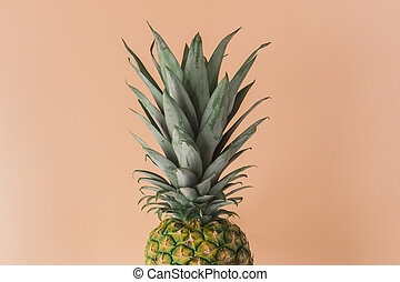 Pineapple fresh fruit on colorful background. Creative bright minimal, styled concept for bloggers.