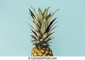 Pineapple fresh fruit on colorful background