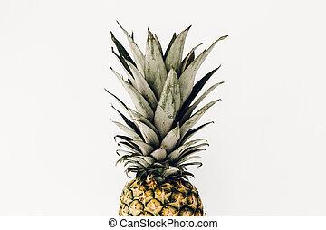 Pineapple fresh fruit on white background