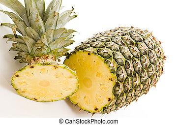 Pineapple - Fresh pineapple on white background.