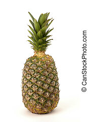 Pineapple - Fresh whole pineapple on a white background,