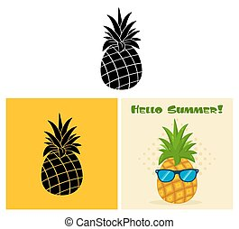 Pineapple Fruit. Collection Set