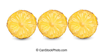 pineapple fruits isolated on a white background