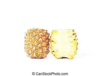 Pineapple fruits Isolated on white background